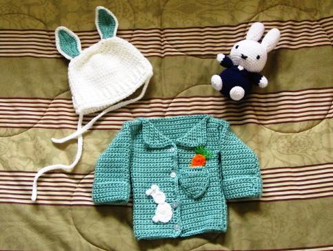 Crochet baby boy bunny gifts