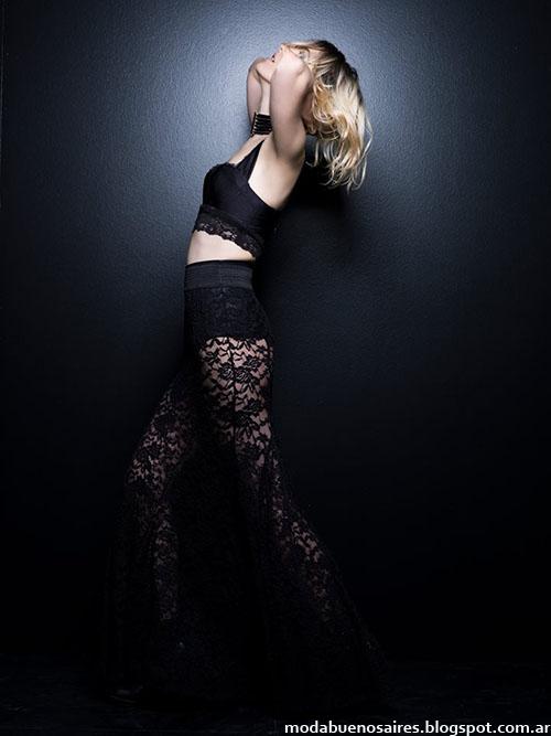 Pantalones de encaje y transparencias moda invierno 2015 Rosh.
