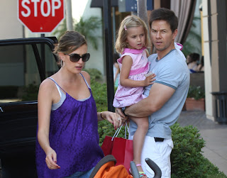Mark Wahlberg With Wife-Kid