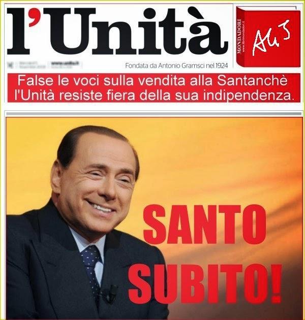 L'Unità, Santanchè, Berlusconi