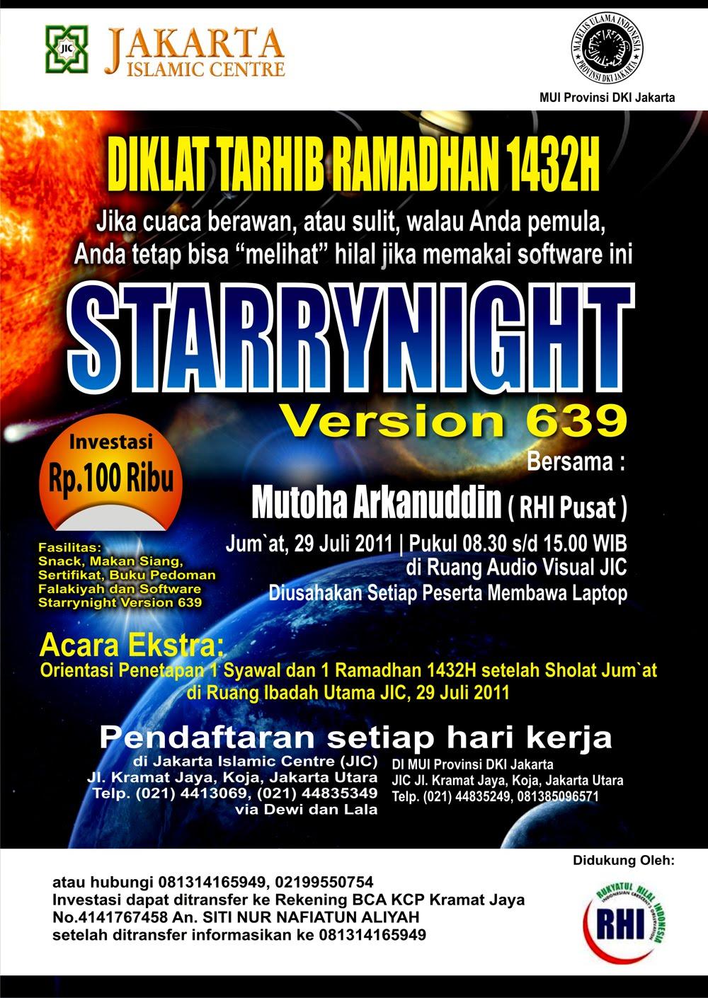 Desain brosur DIKLAT Tarhib Ramadhan 1432 H