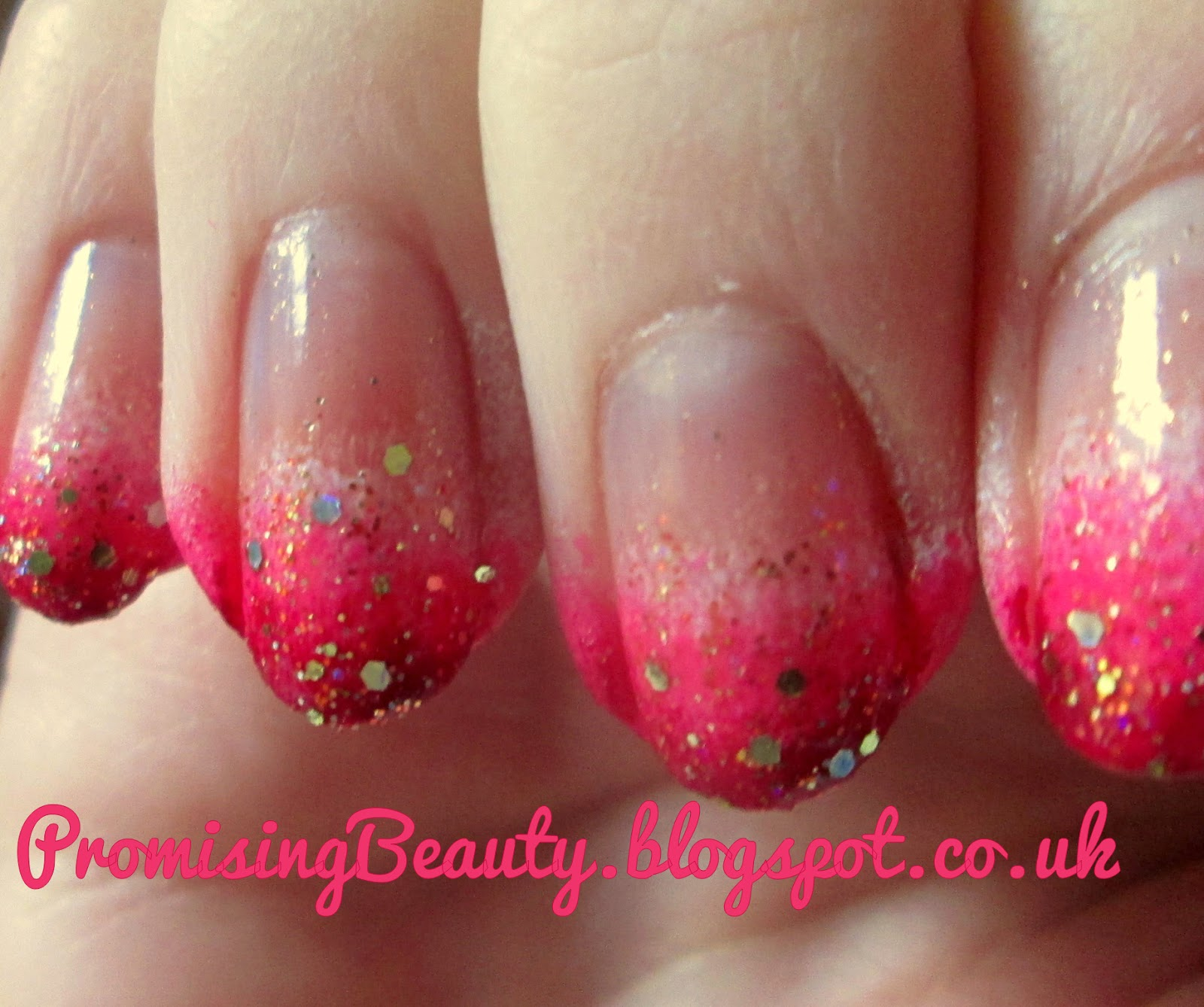 promising beauty: valentine's pink ombre nails!