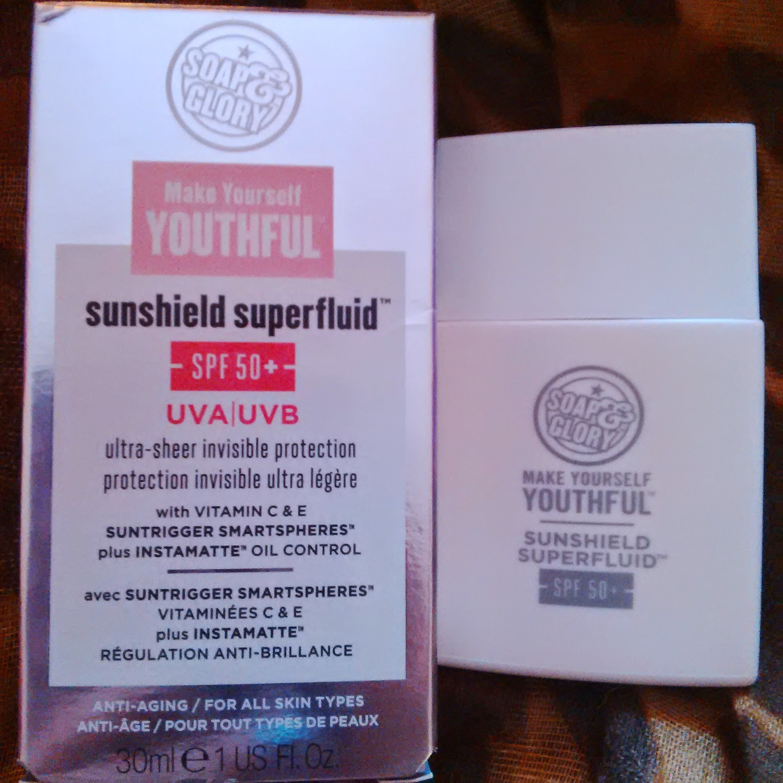 Soap and Glory Make Yourself Youthful Sunshield Superfluid SPF50