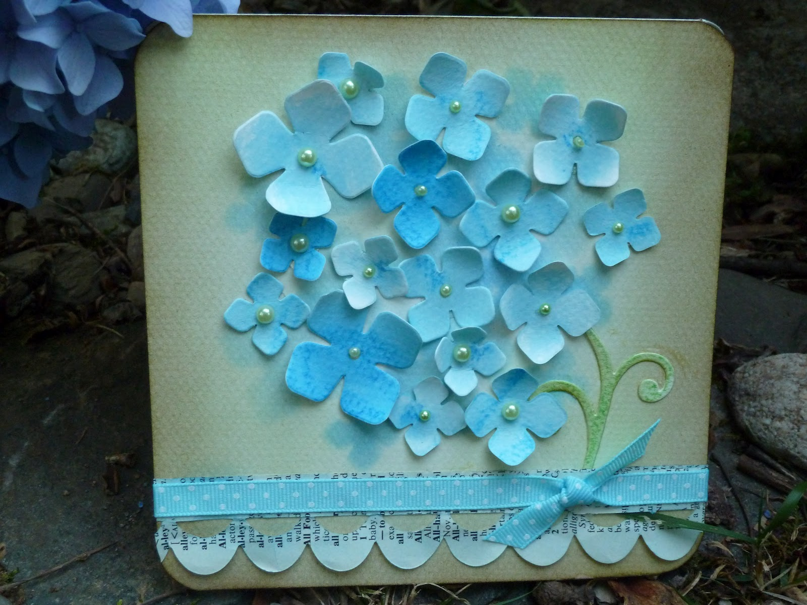 10 Inspirerende Hallen : Sizzix die cutting inspiration and tips: 3d hydrangea card
