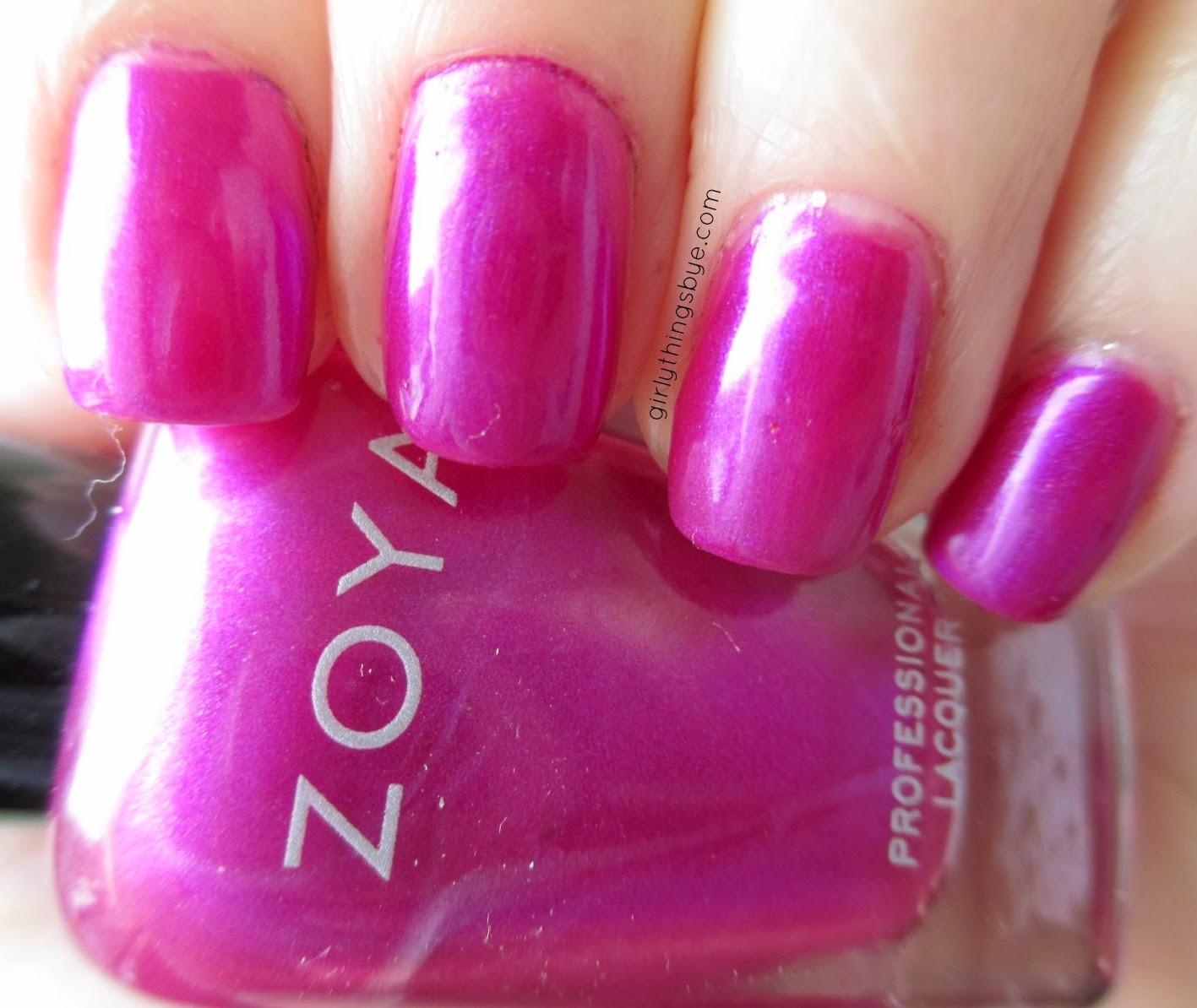 Zoya Blyss, swatch, radiant orchid, nail polish, @girlythingsby_e
