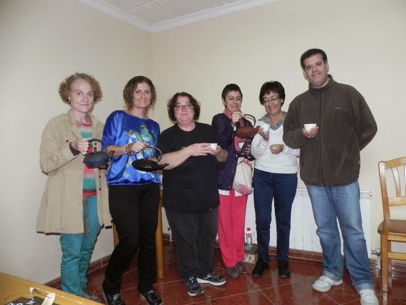 Cristina, Pilar, Llanos, Aisea, María y Alberto