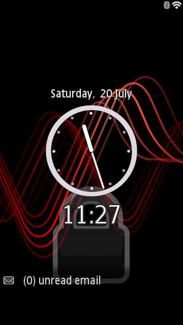Application Digital Footmark Lock Screen for Nokia 5800 and N8