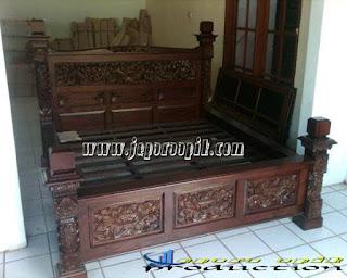 dipan jati tempat tidur antik jati
