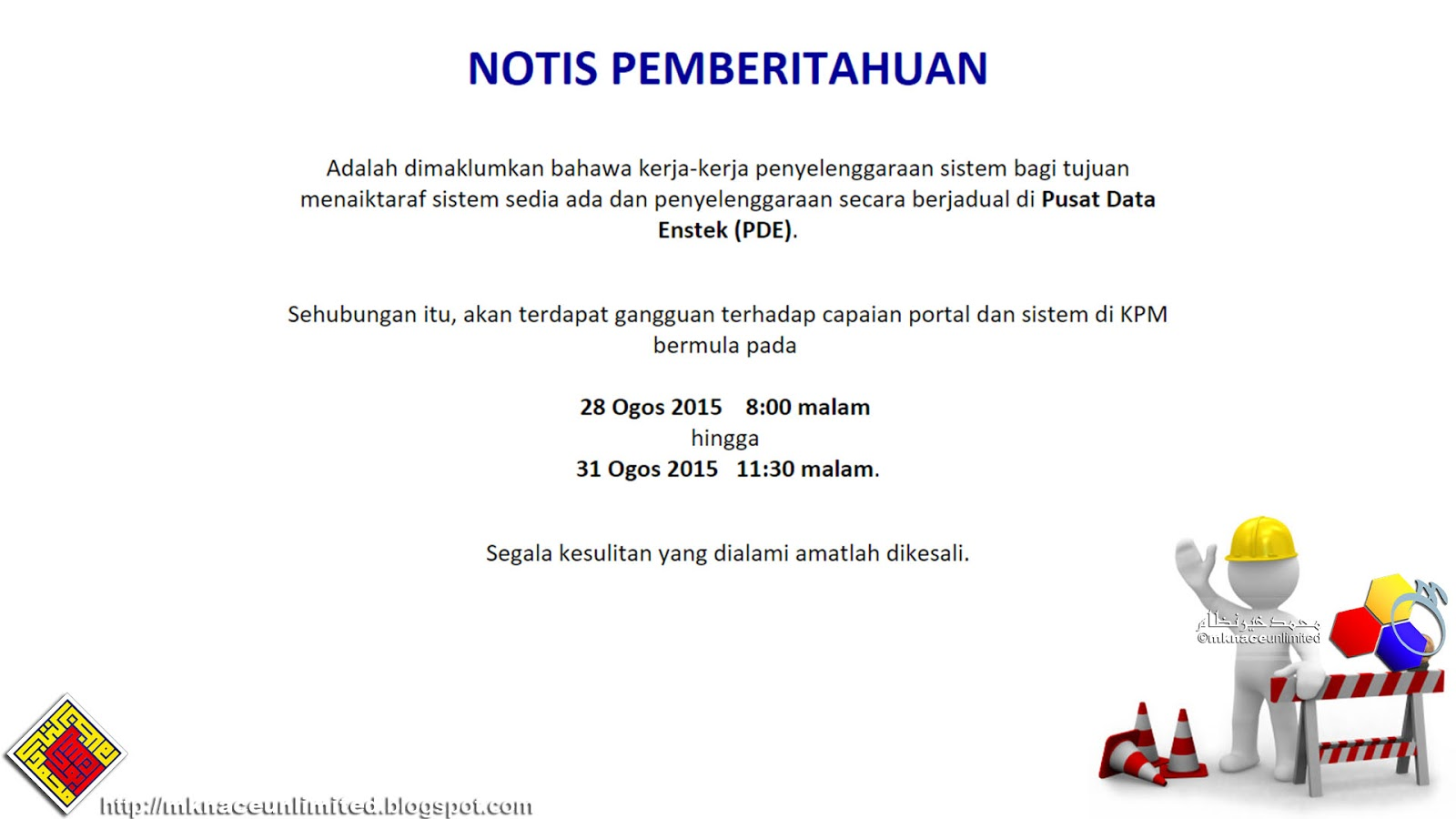 c1832f100 Kerja-kerja penyelenggaraan sistem bagi Kementerian Pendidikan Malaysia  bermula