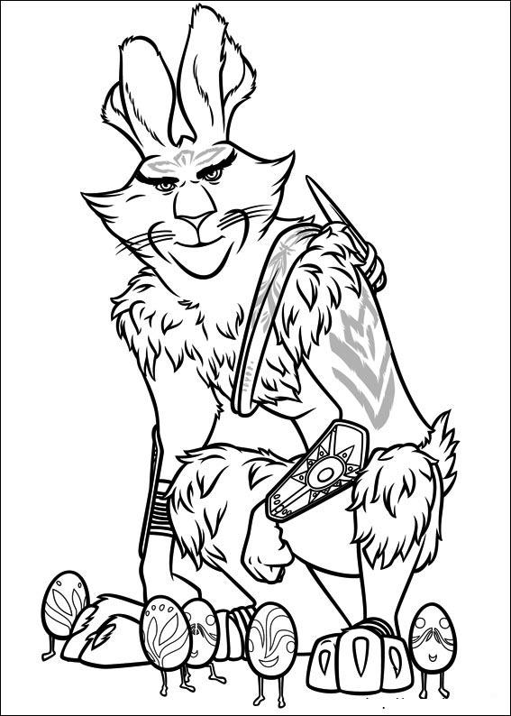Dibujo de El Conejo de Pascua para Colorear y Pintar ~ Colorea el ...