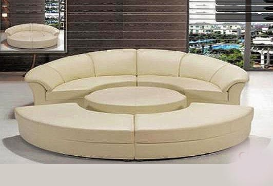 Round sofas designs unique living room furniture design for Unique sofa designs