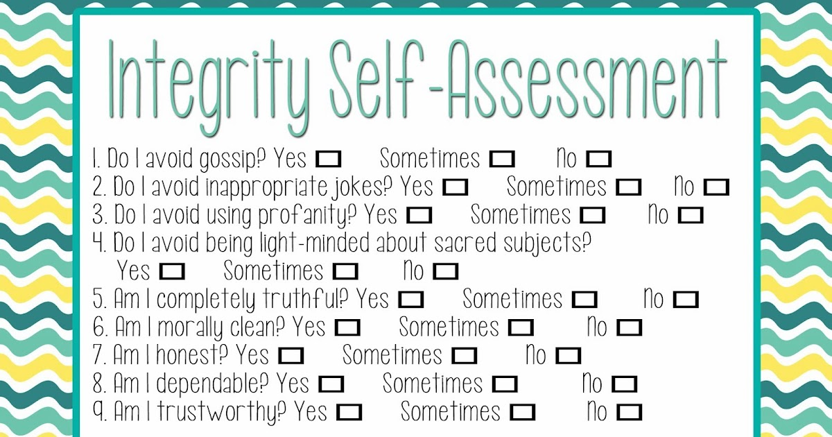 Granite Falls Ward Yw Personal Progress Blog Integrity