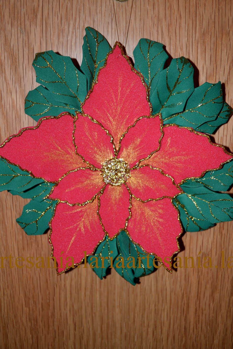 Artesan a laria adorno flor de pascua goma eva - Flor de goma eva ...
