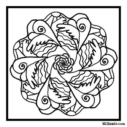 Dessin Coloriage Mandala