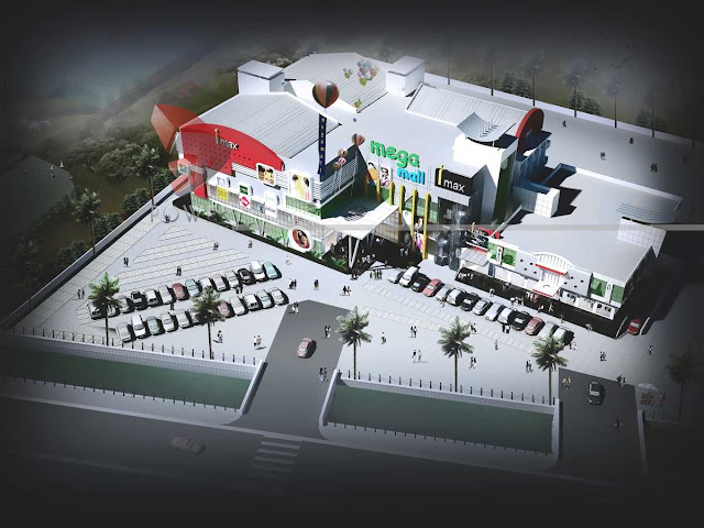 Bird Eye View of Malls & Multiplexes,3d architectural animation