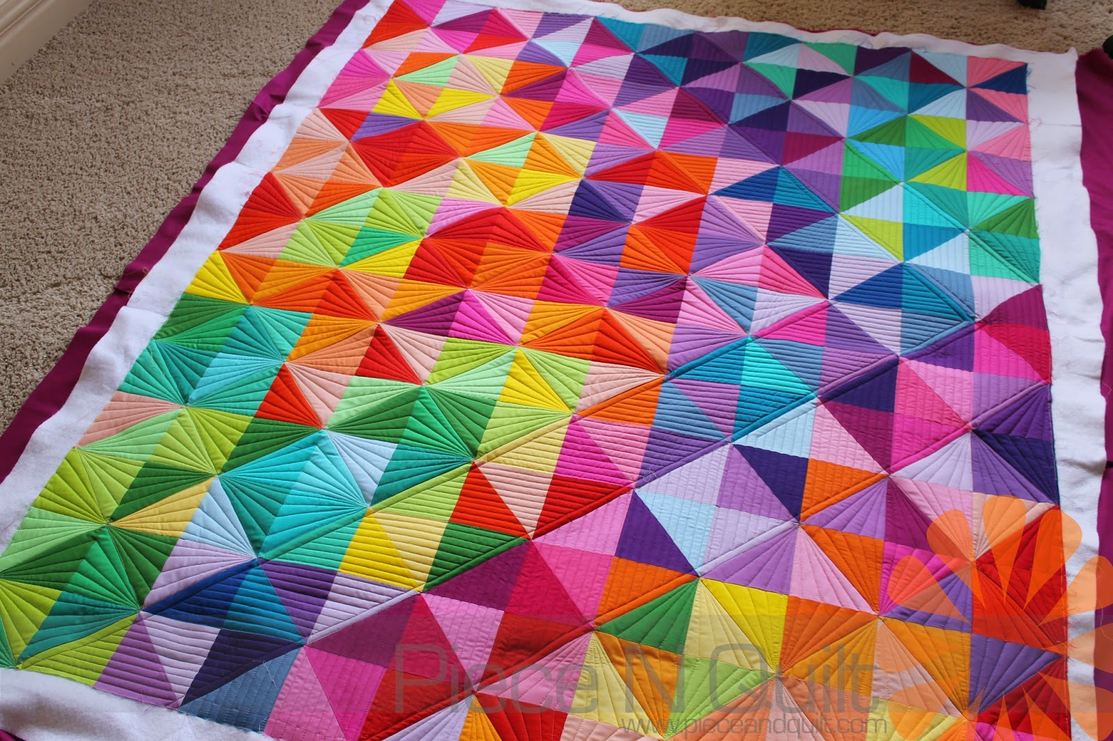 Piece N Quilt: Half Square Triangle Quilt - Custom Machine ... : half square triangle quilt - Adamdwight.com