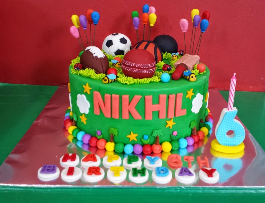 Yochana s Cake Delight! : Nikhil s 6th birthday