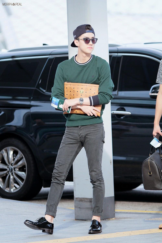 Exo Sehun Airport Fashion Official Korean Fashion