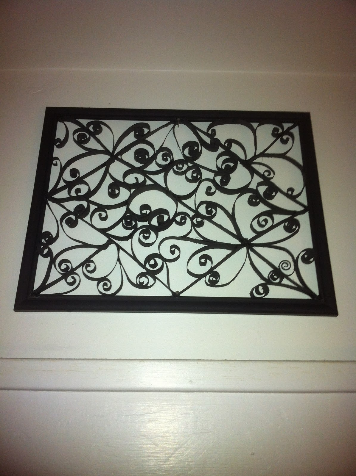 crafty creations by amberoni toilet paper roll wall art. Black Bedroom Furniture Sets. Home Design Ideas