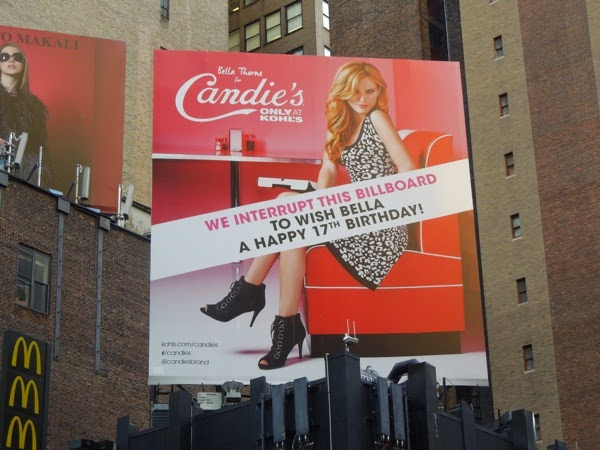 Candie's Bella Thorne 17 Birthday billboard
