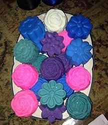 Large Flower Wax Tart