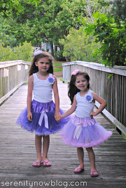 Girls' DIY Fashion, Pettiskirts and Rosette Tank Tops, Serenity Now blog