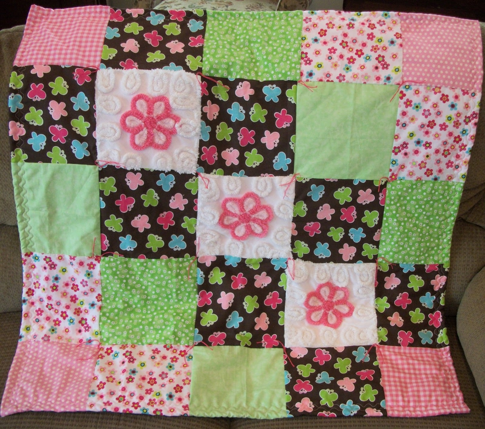 how to make a chenille quilt