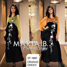 Upcoming maria b stylish evening wear collection 2015-16