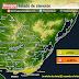 AVISO | Rachas fuertes en franja costera (Jue 15/10 - AM Vie 16/10)
