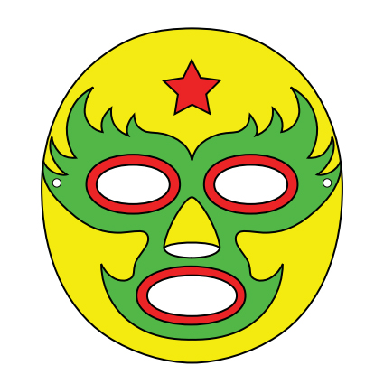 Luchador mask template