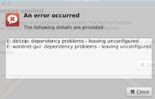 Dictzip wordnet-gui dependency problem in LinuxMint13xfce