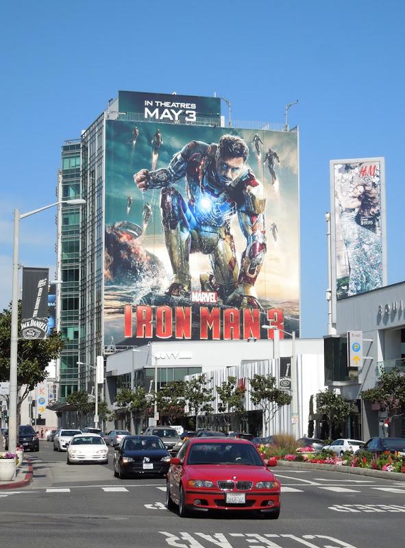 Giant Iron Man 3 billboard Sunset Strip