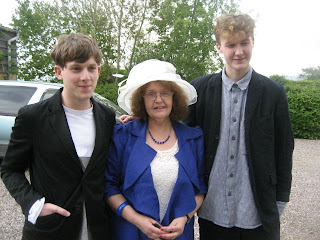Jake, Mum and my brother Stefan.