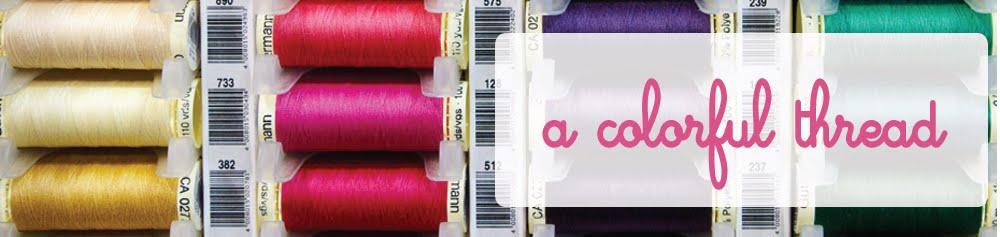 a colorful thread