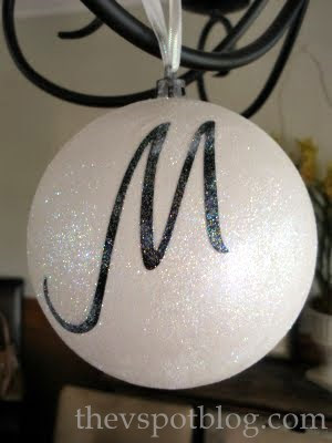 DIY monogrammed ornaments