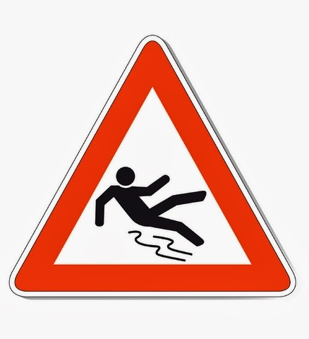 slip and fall sign | accident lawyer