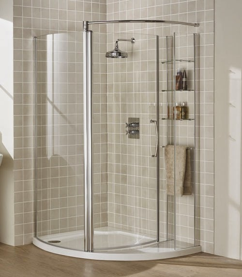 Small Bathroom With Frameless Shower: Small Bathroom Decorating Ideas (Do) Install Crown Molding