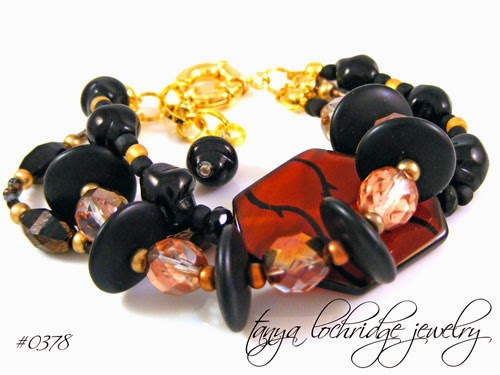 Patterned Agate & Onyx Bracelet