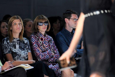 Anna Wintour on the front row