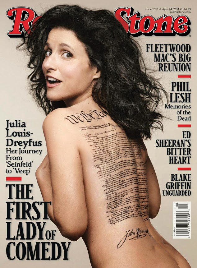 Julia Louis Dreyfus Naked On Rolling Stone Cover