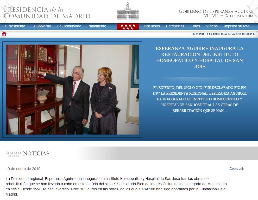 El fondo del asunto enero 2013 for Sede de la presidencia de la comunidad de madrid