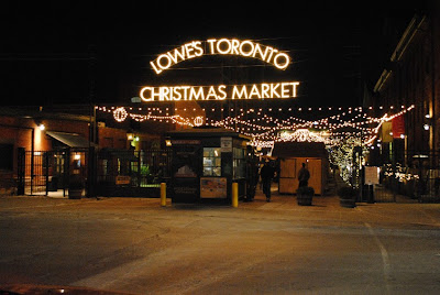 The entrance to the Toronto Christmas Market