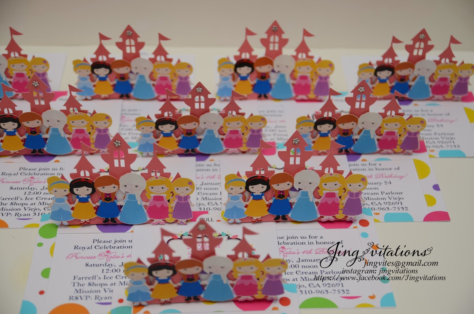 pop up invitations, handmade invitations