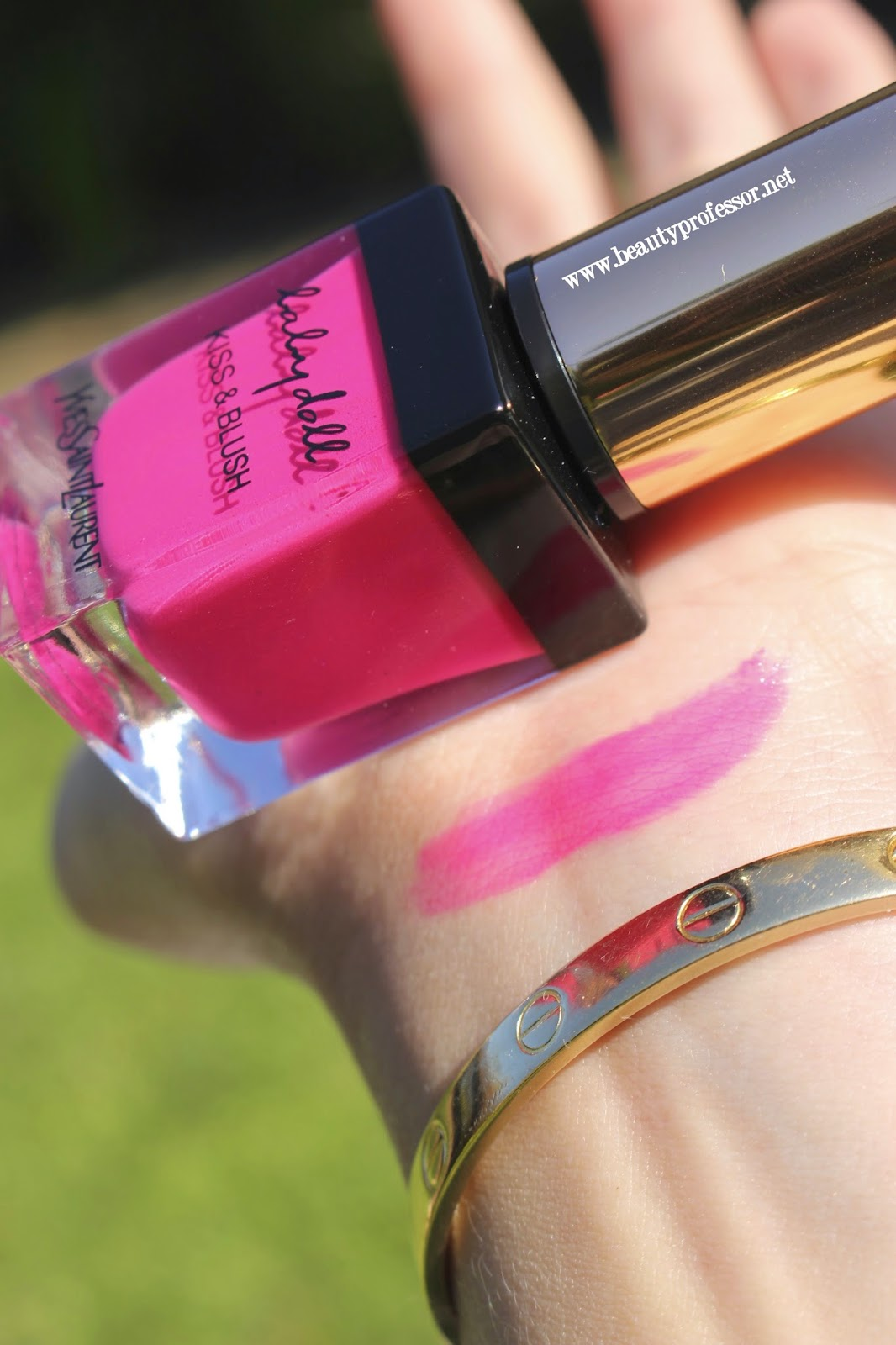 YSL Babydoll Kiss and Blush Fuchsia Desinvolte swatch