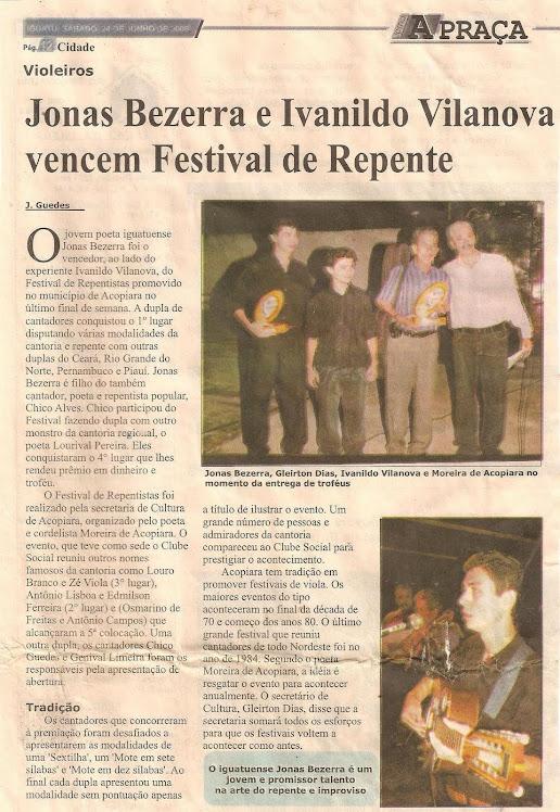 RECORTE DE JORNAL