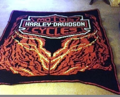FILET CROCHET MOTORCYCLE PATTERN FREE | CROCHET PATTERNS