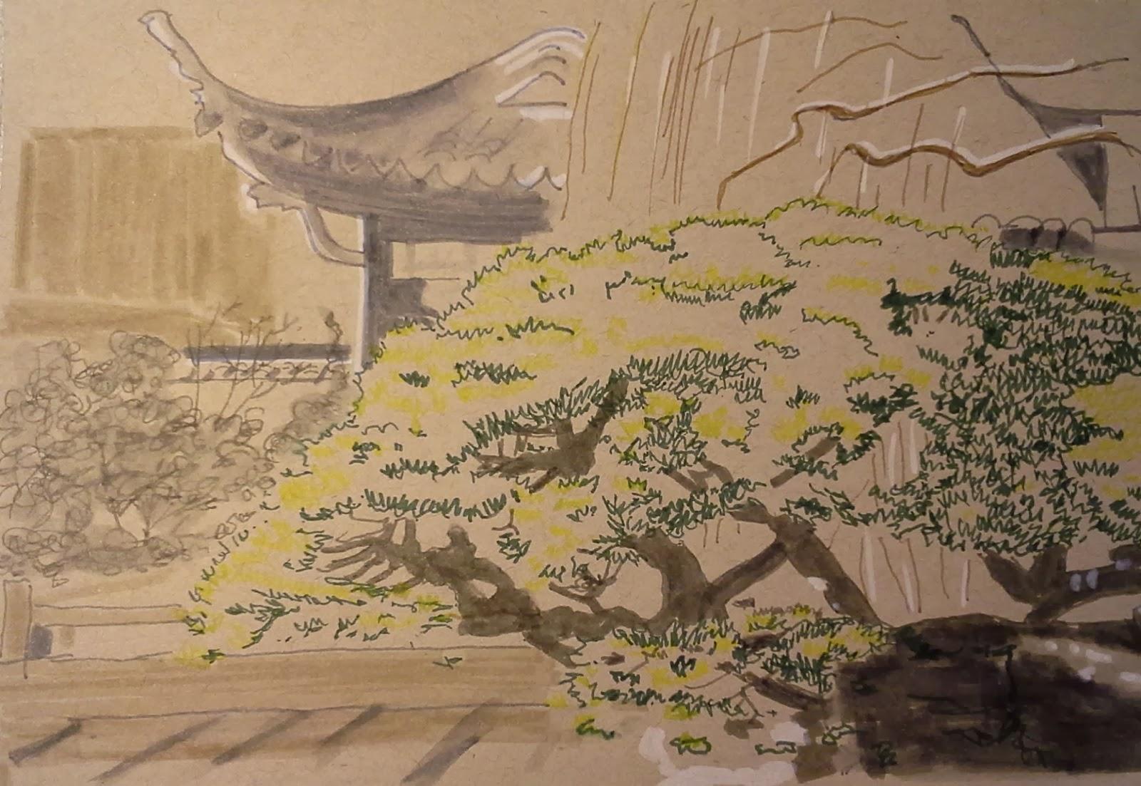 Urban Sketchers Portland: Lan Su Chinese Garden