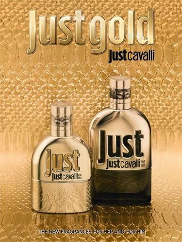 Just Gold for her e for him Eau de Parfum novas fragrâncias para ela e para ele Roberto Cavalli comprar loja online preço