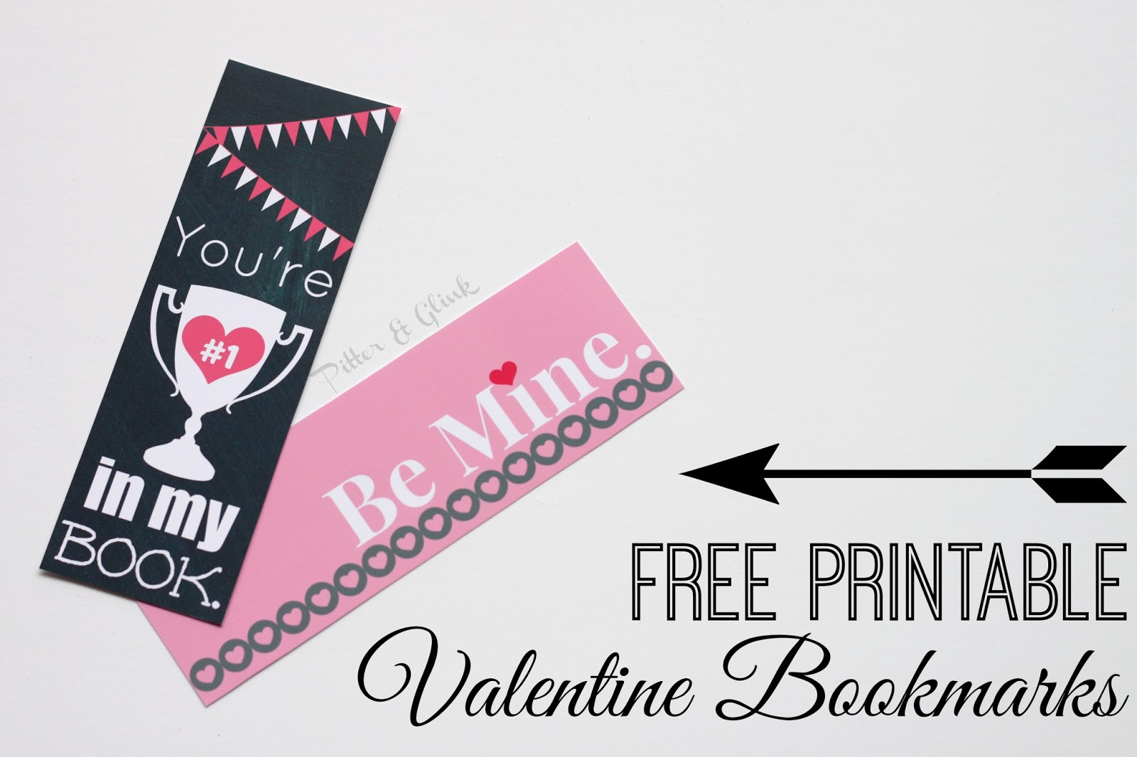 Valentine bookmark to color - Pitterandglink Free Printable Valentine Bookmarks