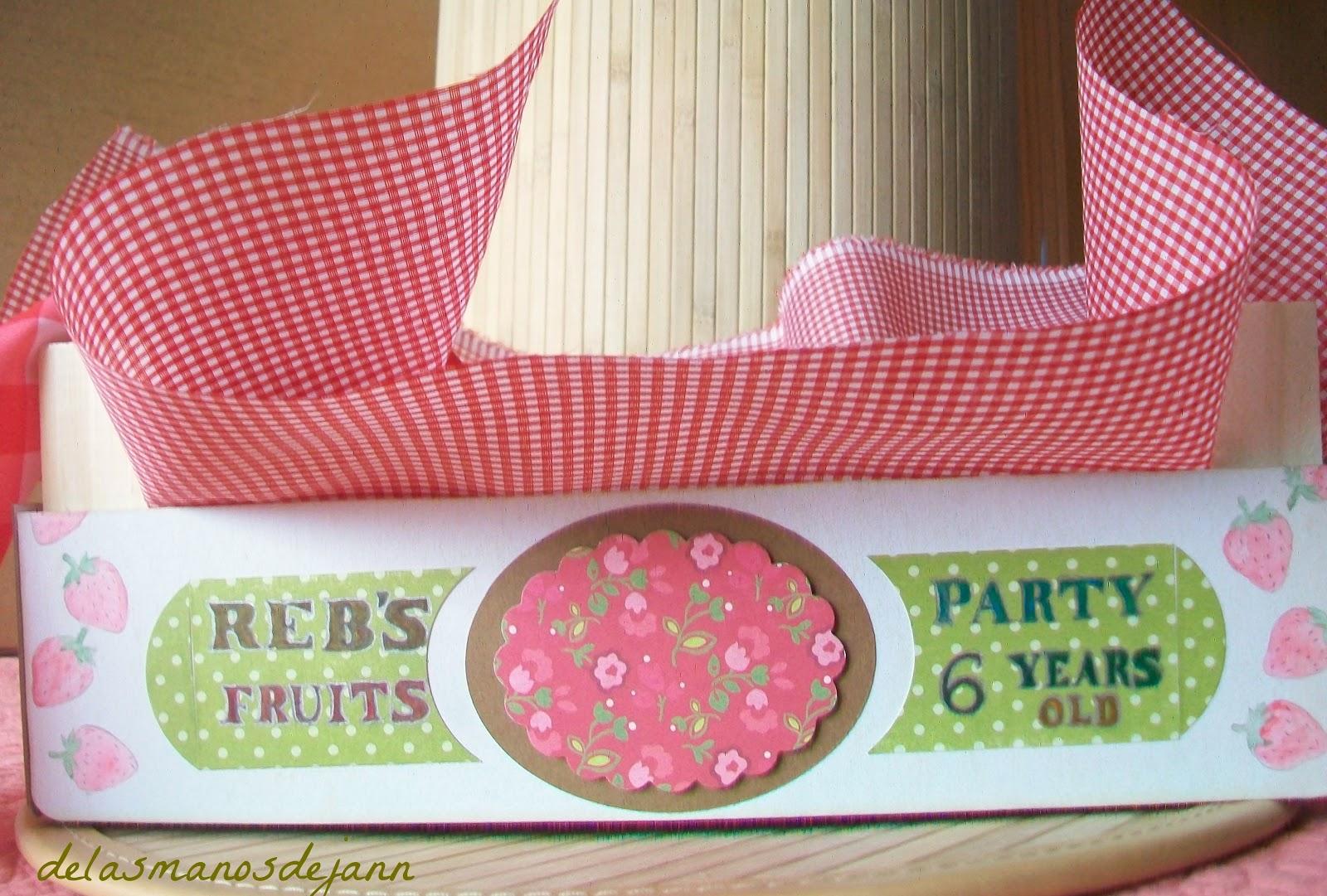 De las manos de jann manualidades tarjetas recuerdos - Cajas de fruta decoradas ...